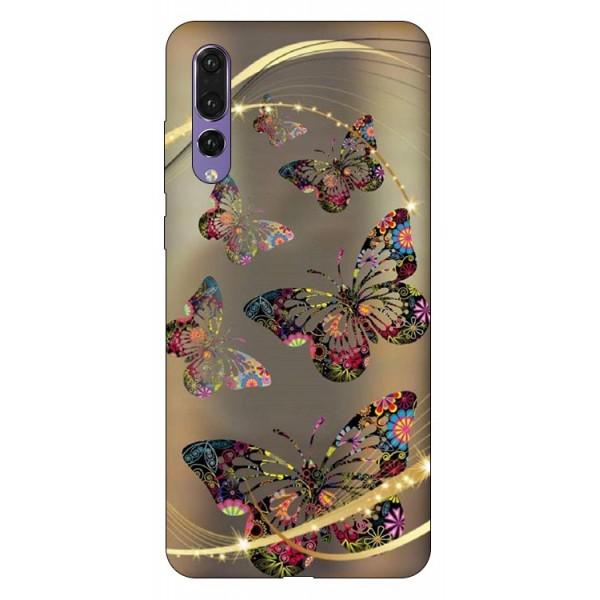 Husa Silicon Soft Upzz Print Compatibila Cu Huawei P20 Pro Model Golden Butterfly imagine itelmobile.ro 2021
