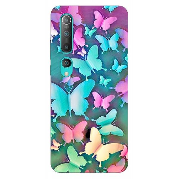 Husa Silicon Soft Upzz Print Compatibila Cu Xiaomi Mi 10 Pro/Mi 10 Model Colorfull Butterflies imagine itelmobile.ro 2021