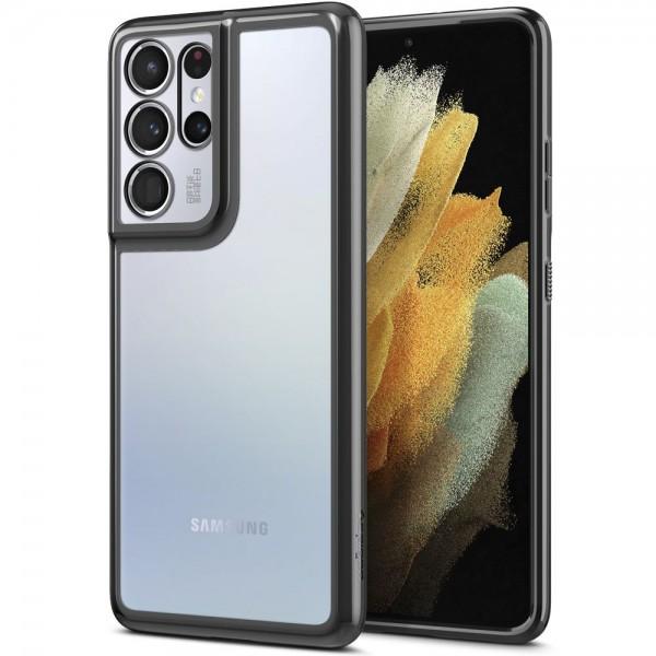 Husa Premium Spigen Optik Crystal Compatibila Cu Samsung S21 Ultra, Chrome Gri imagine itelmobile.ro 2021
