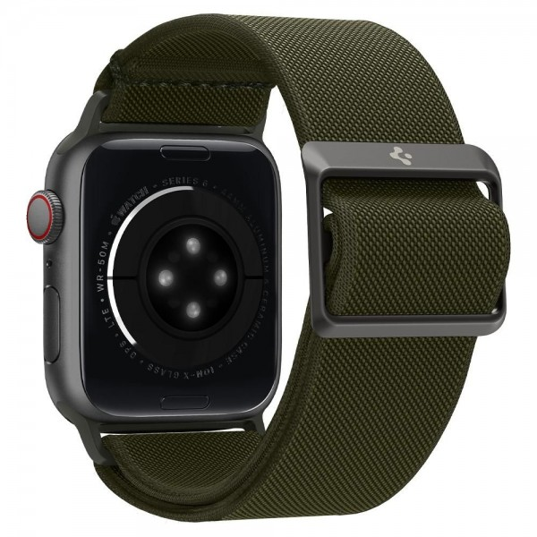 Curea Spigen Fit Lite Compatibila Cu Apple Watch 2 / 3 / 4 / 5 / 6 / Se, Marime 42 / 44 MM, Kaki imagine itelmobile.ro 2021