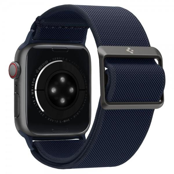 Curea Spigen Fit Lite Compatibila Cu Apple Watch 2 / 3 / 4 / 5 / 6 / Se, Marime 42 / 44 MM, Navy Albastru imagine itelmobile.ro 2021