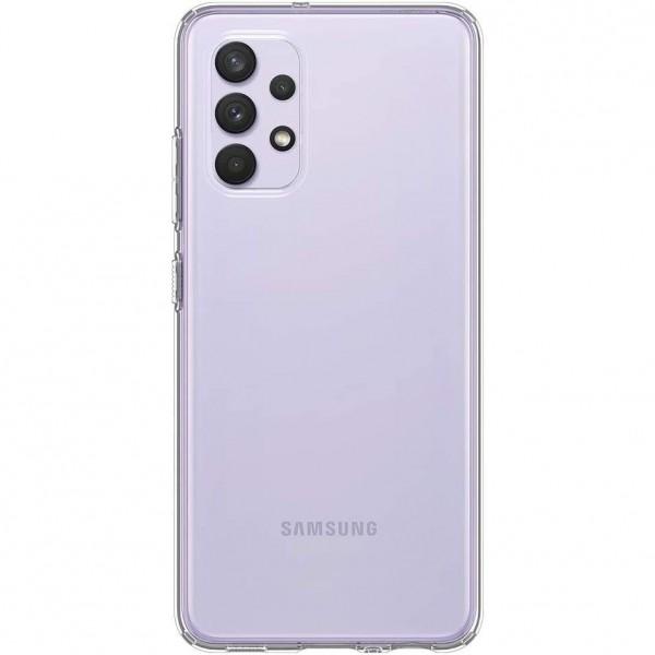 Husa Premium Spigen Liquid Crystal Pentru Samsung Galaxy A32, Silicon, Transparent imagine itelmobile.ro 2021