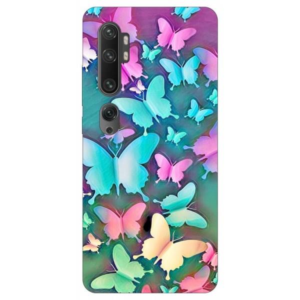 Husa Silicon Soft Upzz Print Compatibila Cu Xiaomi Mi Note 10/Mi Note 10 Pro Model Color Butterflies imagine itelmobile.ro 2021
