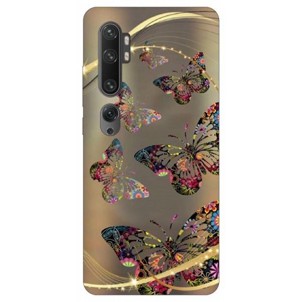 Husa Silicon Soft Upzz Print Compatibila Cu Xiaomi Mi Note 10/ Mi Note 10 Pro Model Golden Butterfly imagine itelmobile.ro 2021