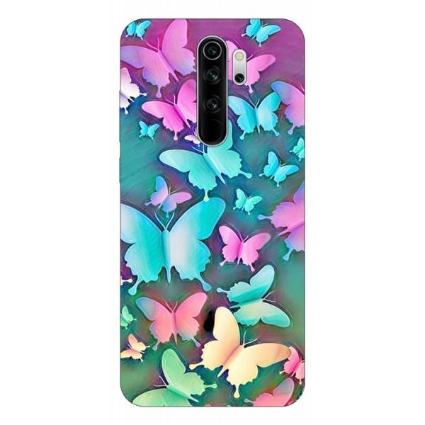 Husa Silicon Soft Upzz Print Compatibila Cu Xiaomi Redmi Note 8 Pro Model Colorfull Butterflies imagine itelmobile.ro 2021