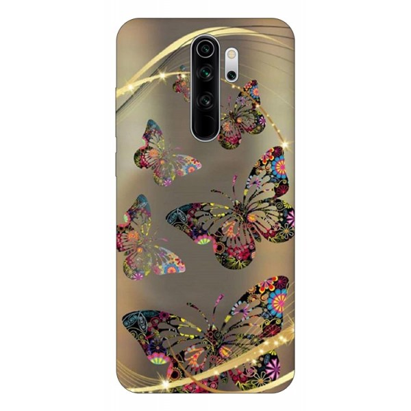 Husa Silicon Soft Upzz Print Compatibila Cu Xiaomi Redmi Note 8 Pro Model Golden Butterfly imagine itelmobile.ro 2021