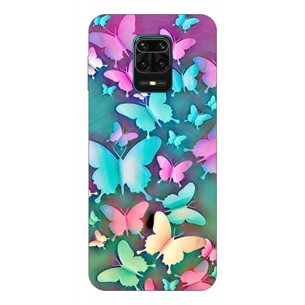 Husa Silicon Soft Upzz Print Compatibila Cu Xiaomi Redmi Note 9 Pro Model Colorfull Butterflies imagine itelmobile.ro 2021