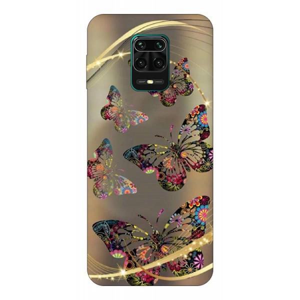Husa Silicon Soft Upzz Print Compatibila Cu Xiaomi Redmi Note 9 Pro Model Golden Butterfly imagine itelmobile.ro 2021