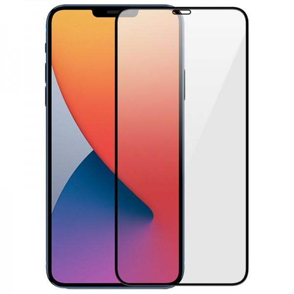 Folie Sticla Securizata Wozinsky Full Cover Pentru iPhone 12 / iPhone 12 Pro ,transparenta Cu Margine Neagra imagine itelmobile.ro 2021