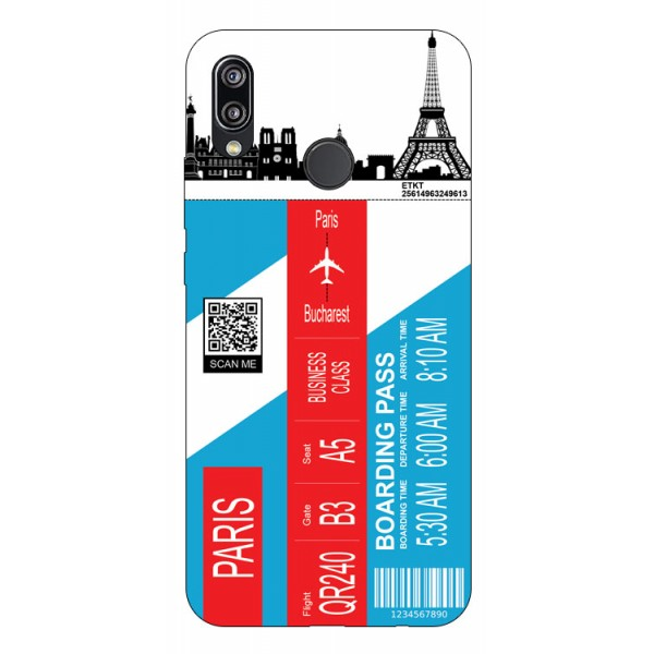 Husa Silicon Soft Upzz Print Travel Compatibila cu Huawei P20 Lite Model Paris imagine itelmobile.ro 2021