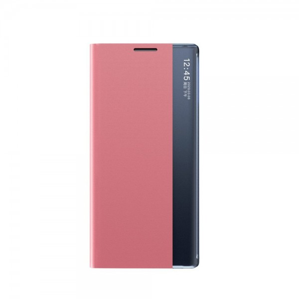 Husa Tip Carte Upzz Eco Book Compatibila Cu Samsung Galaxy A12, Piele Ecologica - Roz imagine itelmobile.ro 2021