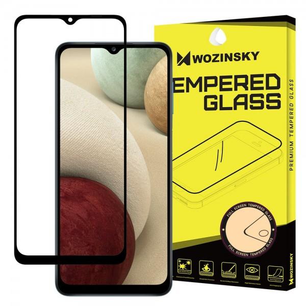 Folie Sticla Full Cover Full Glue Wozinsky Pentru Samsung Galaxy A12, Cu Adeziv Pe Toata Suprafata Foliei Neagra imagine itelmobile.ro 2021