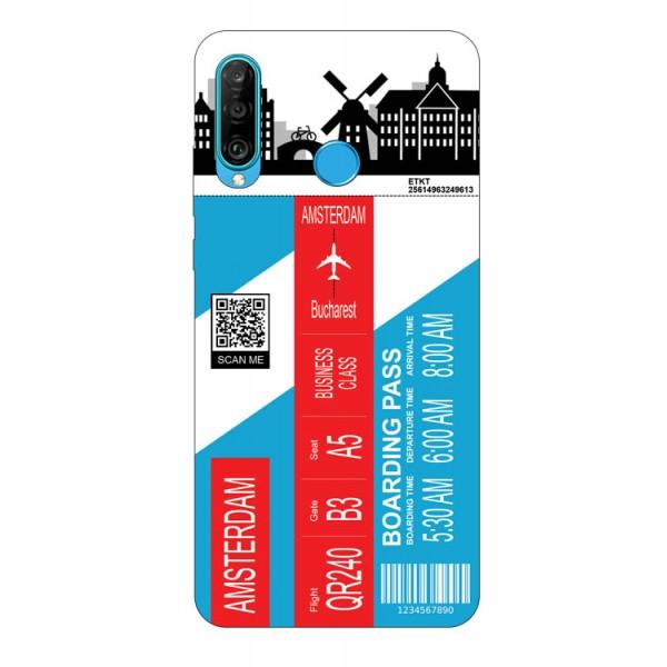 Husa Silicon Soft Upzz Print Travel Compatibila cu Huawei P30 Lite Model Amsterdam imagine itelmobile.ro 2021