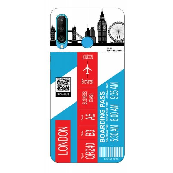 Husa Silicon Soft Upzz Print Travel Compatibila cu Huawei P30 Lite Model London imagine itelmobile.ro 2021
