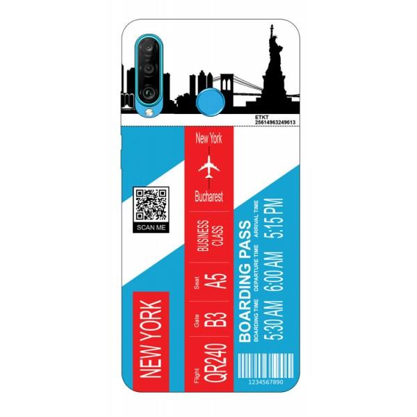 Husa Silicon Soft Upzz Print Travel Compatibila cu Huawei P30 Lite Model New York imagine itelmobile.ro 2021