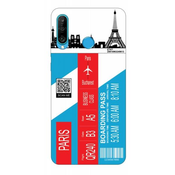 Husa Silicon Soft Upzz Print Travel Compatibila cu Huawei P30 Lite Model Paris imagine itelmobile.ro 2021