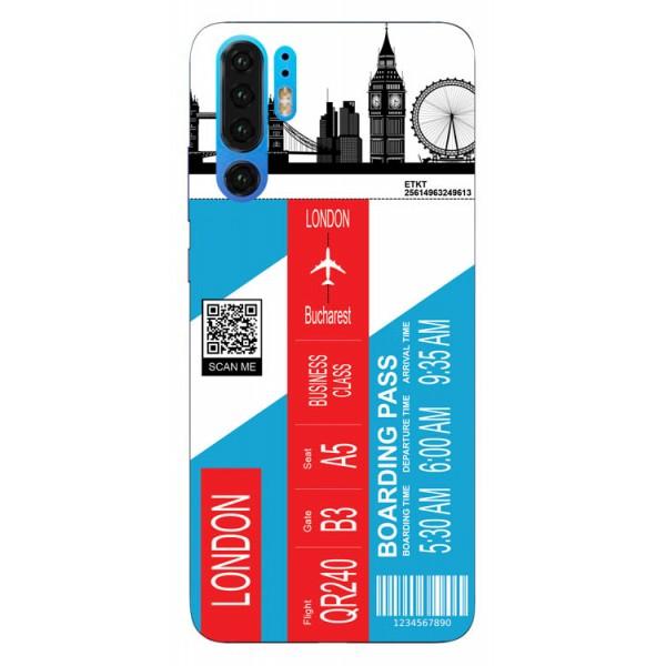 Husa Silicon Soft Upzz Print Travel Compatibila cu Huawei P30 Pro Model London imagine itelmobile.ro 2021
