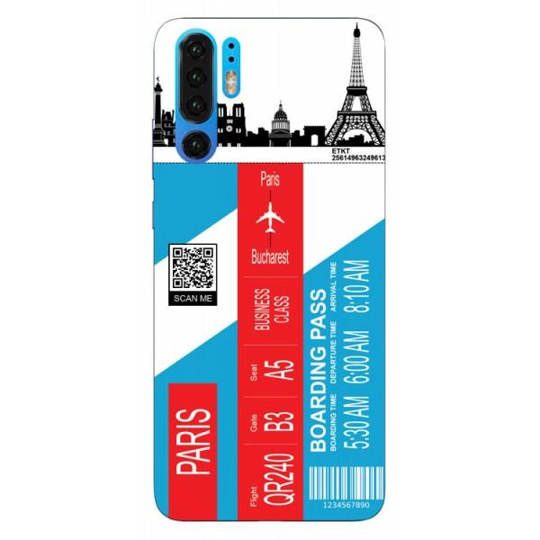 Husa Silicon Soft Upzz Print Travel Compatibila cu Huawei P30 Pro Model Paris imagine itelmobile.ro 2021