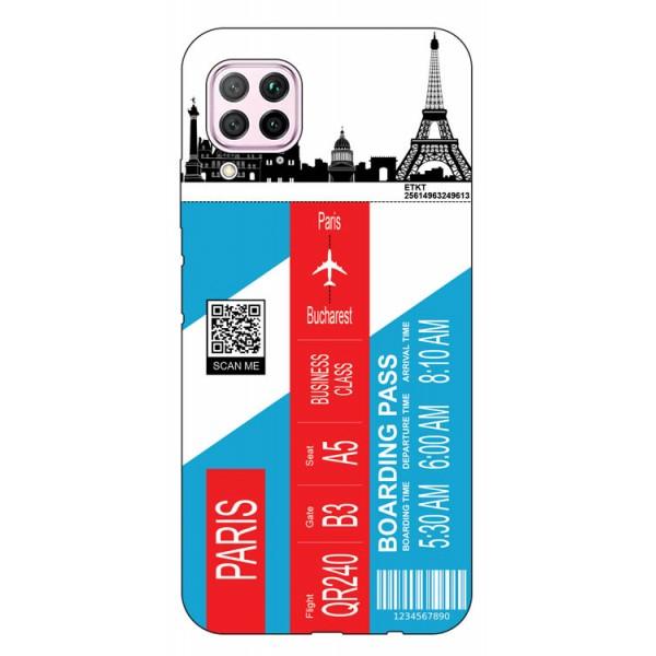 Husa Silicon Soft Upzz Print Travel Compatibila cu Huawei P40 Lite Model Paris imagine itelmobile.ro 2021