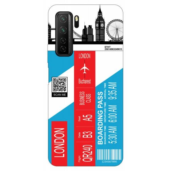 Husa Silicon Soft Upzz Print Travel Compatibila cu Huawei P40 Lite 5G Model London imagine itelmobile.ro 2021