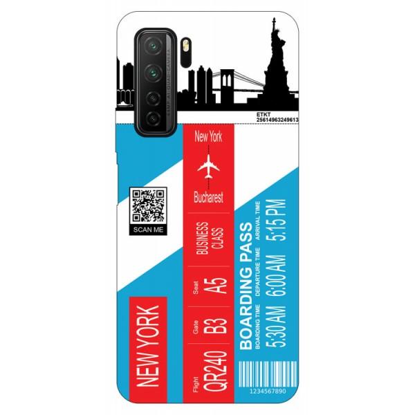 Husa Silicon Soft Upzz Print Travel Compatibila cu Huawei P40 Lite 5G Model New York imagine itelmobile.ro 2021