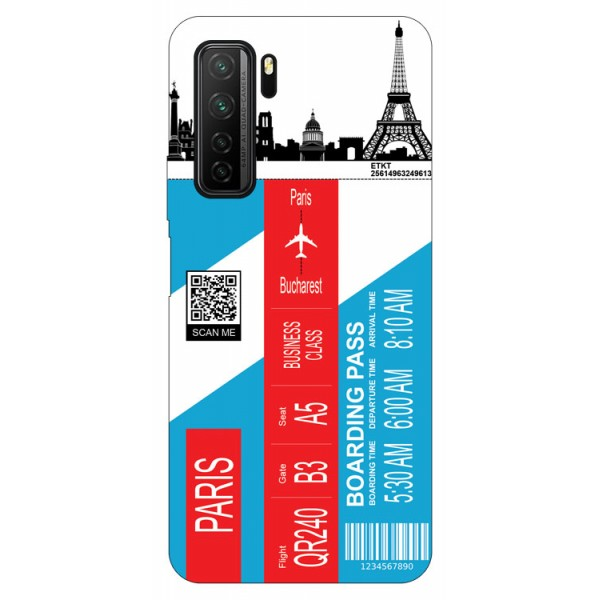 Husa Silicon Soft Upzz Print Travel Compatibila cu Huawei P40 Lite 5G Model Paris imagine itelmobile.ro 2021