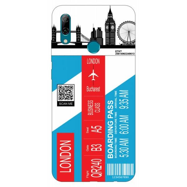 Husa Silicon Soft Upzz Print Travel Compatibila cu Huawei P Smart 2019 Model London imagine itelmobile.ro 2021