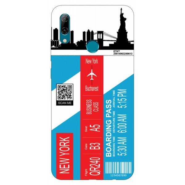 Husa Silicon Soft Upzz Print Travel Compatibila cu Huawei P Smart 2019 Model New York imagine itelmobile.ro 2021