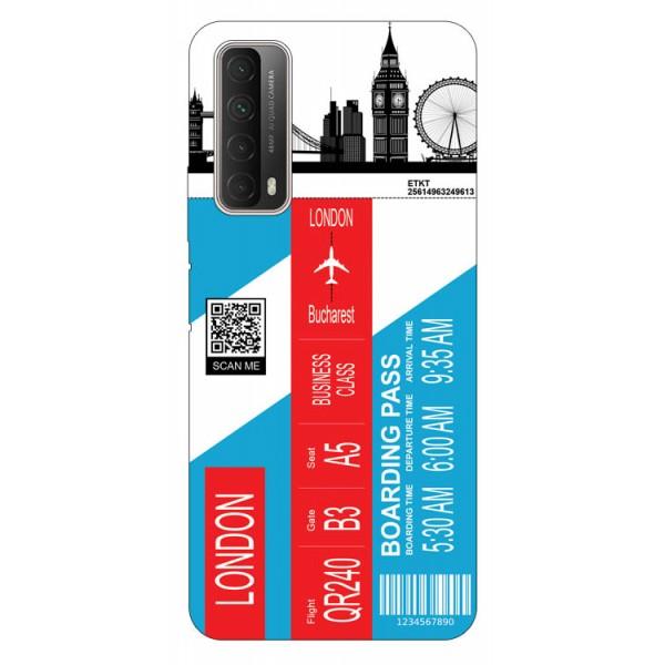 Husa Silicon Soft Upzz Print Travel Compatibila cu Huawei P Smart 2021 Model London imagine itelmobile.ro 2021
