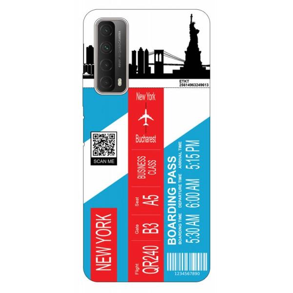 Husa Silicon Soft Upzz Print Travel Compatibila cu Huawei P Smart 2021 Model New York imagine itelmobile.ro 2021