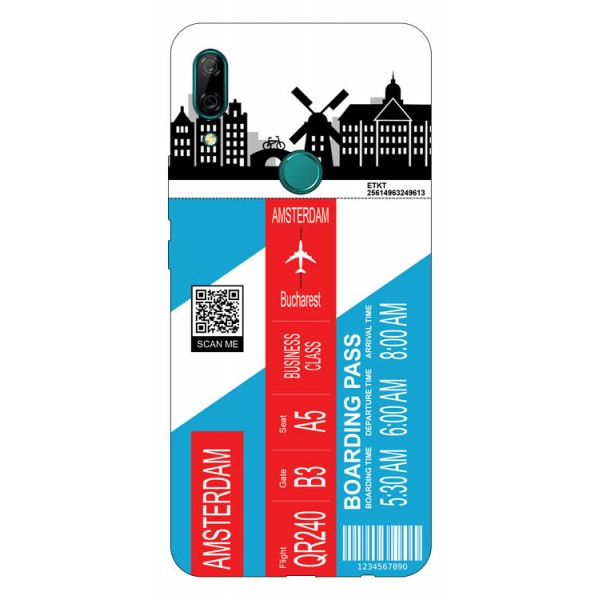 Husa Silicon Soft Upzz Print Travel Compatibila cu Huawei P Smart Z Model Amsterdam imagine itelmobile.ro 2021