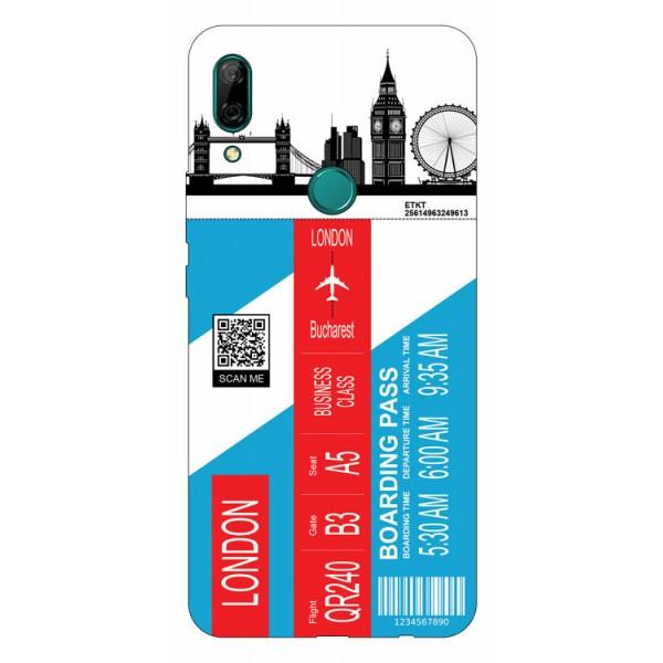 Husa Silicon Soft Upzz Print Travel Compatibila cu Huawei P Smart Z Model London imagine itelmobile.ro 2021