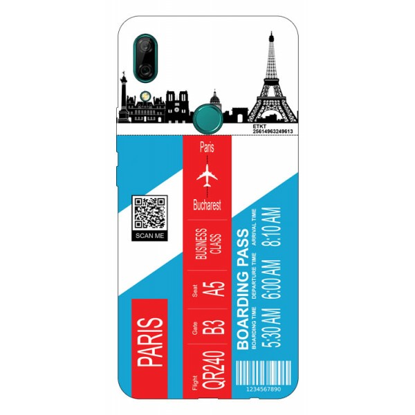 Husa Silicon Soft Upzz Print Travel Compatibila cu Huawei P Smart Z Model Paris imagine itelmobile.ro 2021