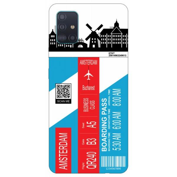 Husa Silicon Soft Upzz Print Travel Compatibila cu Samsung Galaxy A51 Model Amsterdam imagine itelmobile.ro 2021