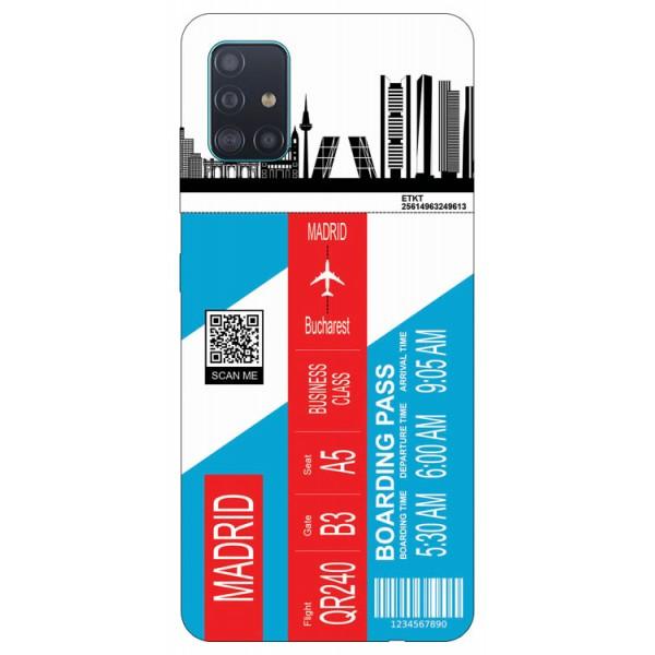 Husa Silicon Soft Upzz Print Travel Compatibila cu Samsung Galaxy A51 Model Madrid imagine itelmobile.ro 2021