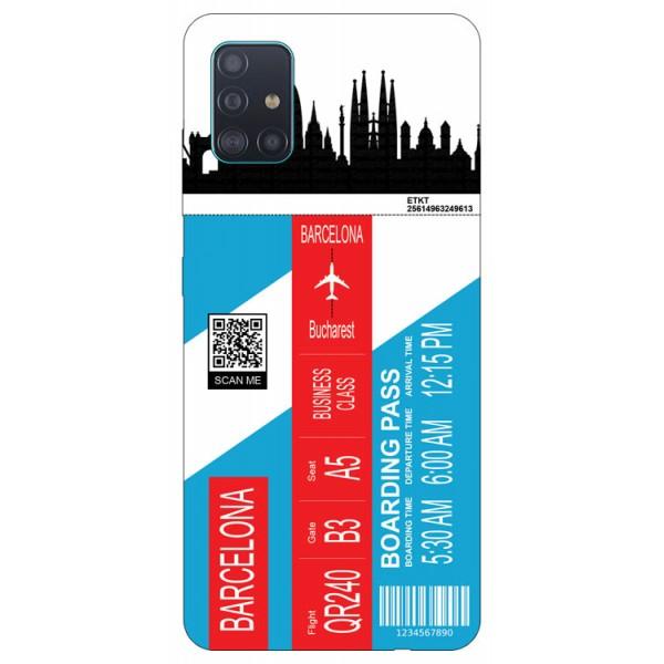 Husa Silicon Soft Upzz Print Travel Compatibila cu Samsung Galaxy A71 Model Barcelona imagine itelmobile.ro 2021