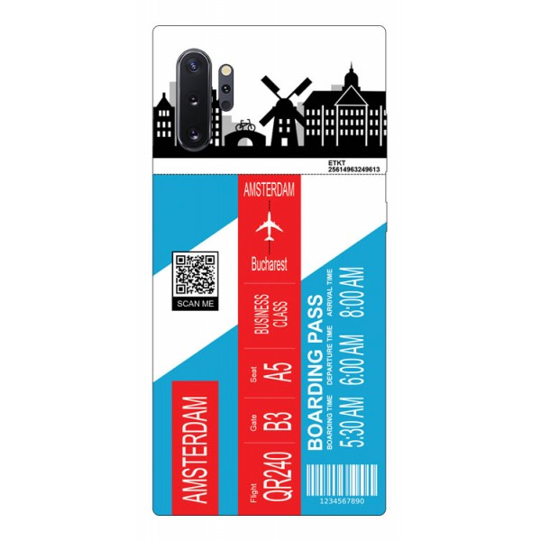 Husa Silicon Soft Upzz Print Travel Compatibila cu Samsung Galaxy Note 10+ plus Model Amsterdam imagine itelmobile.ro 2021