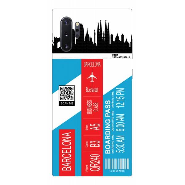 Husa Silicon Soft Upzz Print Travel Compatibila cu Samsung Galaxy Note 10+ plus Model Barcelona imagine itelmobile.ro 2021