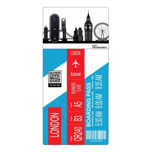 Husa Silicon Soft Upzz Print Travel Compatibila cu Samsung Galaxy Note 10+ plus Model London imagine itelmobile.ro 2021