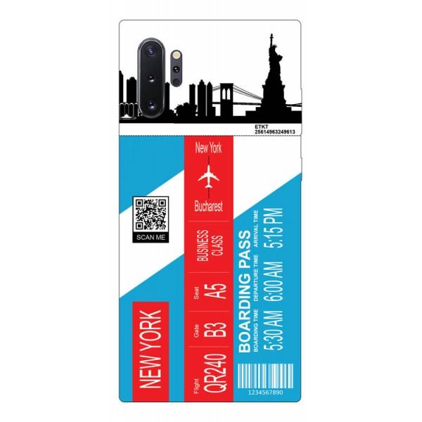 Husa Silicon Soft Upzz Print Travel Compatibila cu Samsung Galaxy Note 10+ Plus Model New York imagine itelmobile.ro 2021
