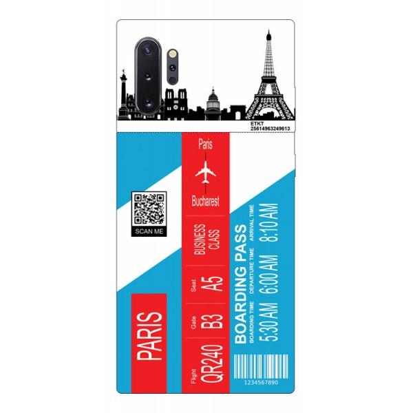 Husa Silicon Soft Upzz Print Travel Compatibila cu Samsung Galaxy Note 10+ Plus Model Paris imagine itelmobile.ro 2021