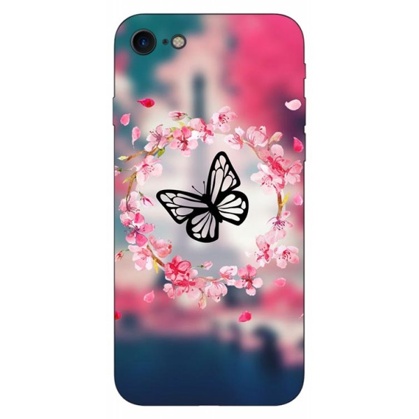Husa Silicon Soft Upzz Print Compatibila Cu Iphone 7/ Iphone 8 Model Butterfly imagine itelmobile.ro 2021