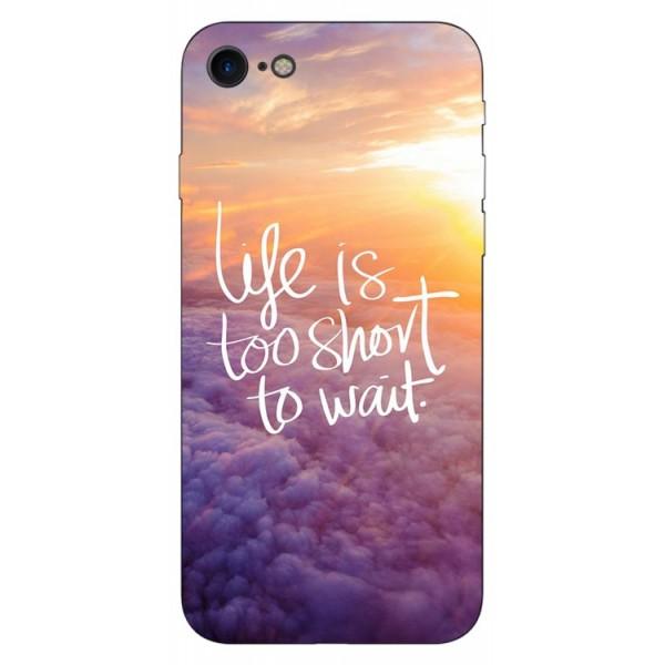 Husa Silicon Soft Upzz Print Compatibila Cu Iphone 7/ Iphone 8 Model Life imagine itelmobile.ro 2021