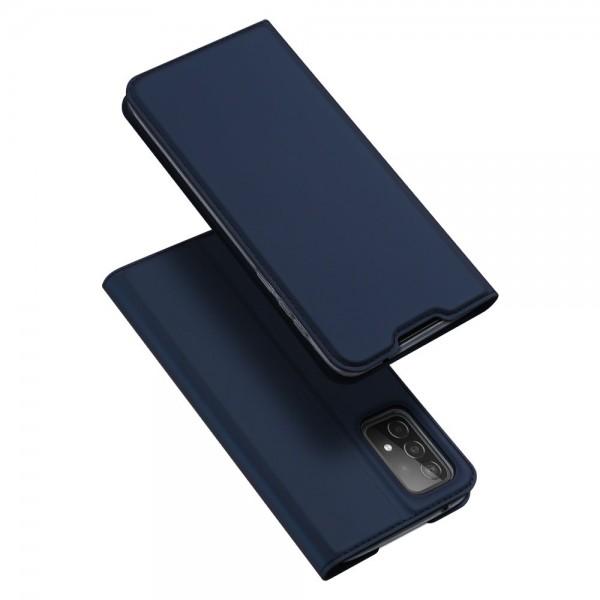 Husa Premium Flip Cover DuxDucis Skin Pro Compatibila Cu Samsung Galaxy A52 5G, Albastru Navy imagine itelmobile.ro 2021