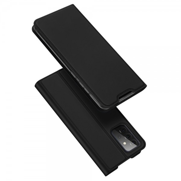 Husa Premium Flip Cover DuxDucis Skin Pro Compatibila Cu Samsung Galaxy A72 5G, Negru imagine itelmobile.ro 2021