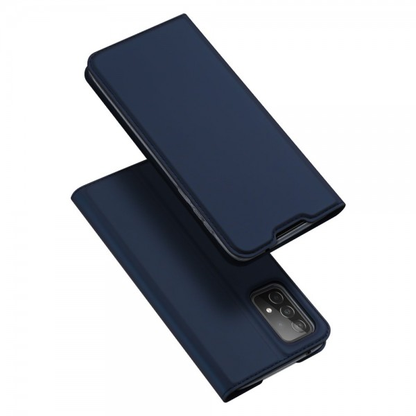 Husa Premium Flip Cover DuxDucis Skin Pro Compatibila Cu Samsung Galaxy A72 5G, Albastru Navy imagine itelmobile.ro 2021