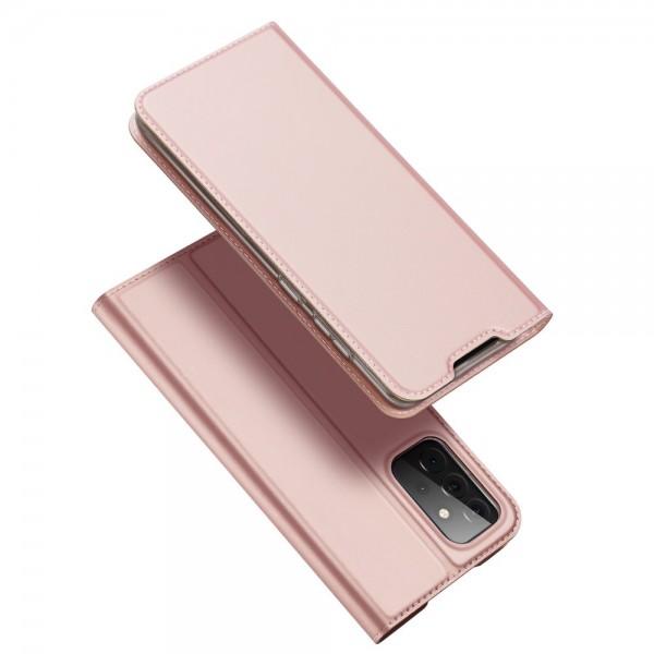 Husa Premium Flip Cover DuxDucis Skin Pro Compatibila Cu Samsung Galaxy A72 5G, Roz imagine itelmobile.ro 2021