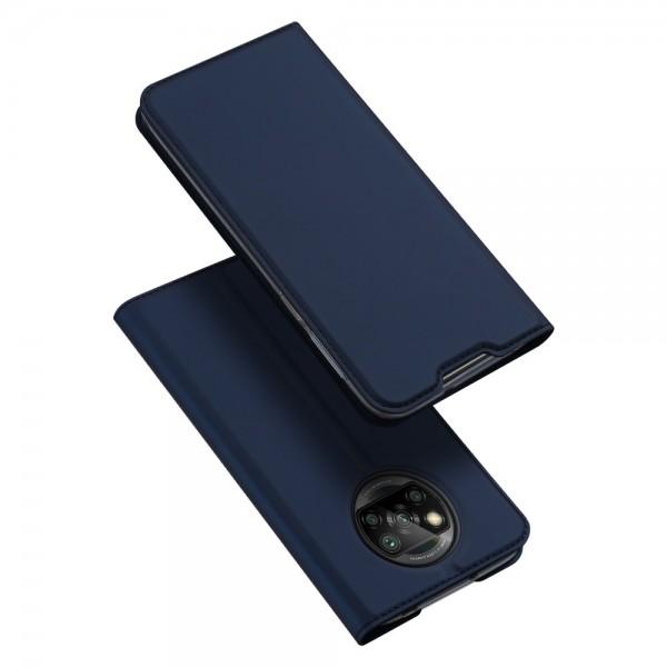 Husa Premium Flip Cover DuxDucis Skin Pro Compatibila Cu Xiaomi Poco M3 / Redmi 9T, Albastru Navy imagine itelmobile.ro 2021