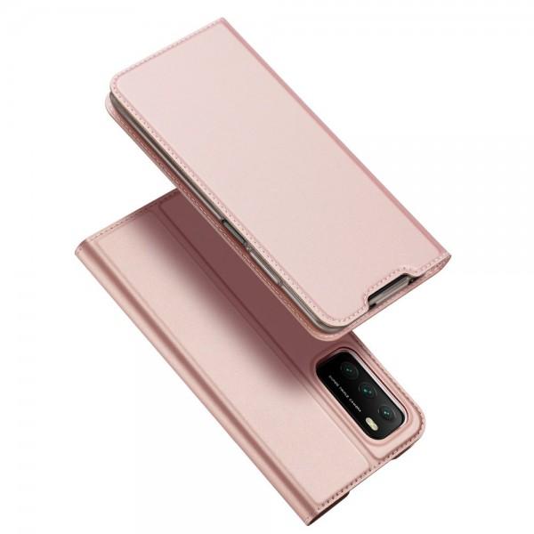Husa Premium Flip Cover DuxDucis Skin Pro Compatibila Cu Xiaomi Poco M3 / Redmi 9T, Roz imagine itelmobile.ro 2021