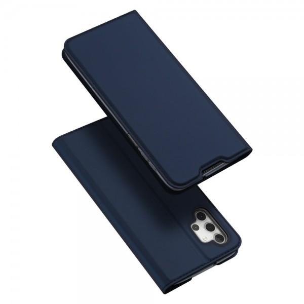 Husa Premium Flip Cover DuxDucis Skin Pro Compatibila Cu Samsung Galaxy A32 5G, Albastru Navy imagine itelmobile.ro 2021